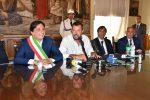 Matteo Salvini a Catania insieme al sindaco Pogliese