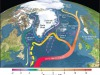 Rappresentazione grafica della Corrente atlantica meridionale (fonte: R. Curry, Woods Hole Oceanographic Institution/Science/USGCRP)