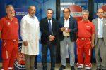Servizio di accoglienza della Croce Rossa al pronto soccorso dell'ospedale di Enna