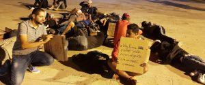 La protesta dei tunisini a Lampedusa