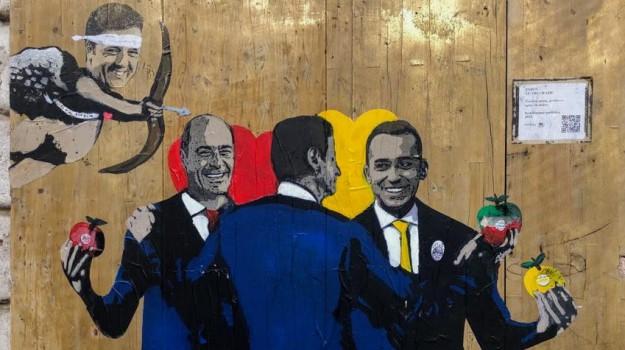 arte, governo, Tvboy, Sicilia, Politica