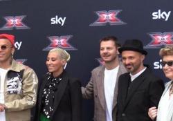 X Factor 2019, i giudici della nuova edizione sul red carpet Foto di rito per Mara Maionchi, Malika Ayane, Sfera Ebbasta, Samuel e Alessandro Cattelan - Ansa