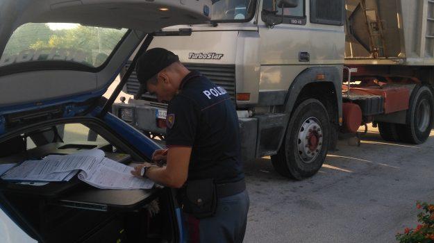 Polizia stradale, tir, Siracusa, Cronaca