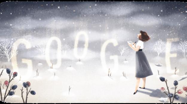arte, doodle di google, Sylvia Plath, Sicilia, Mondo