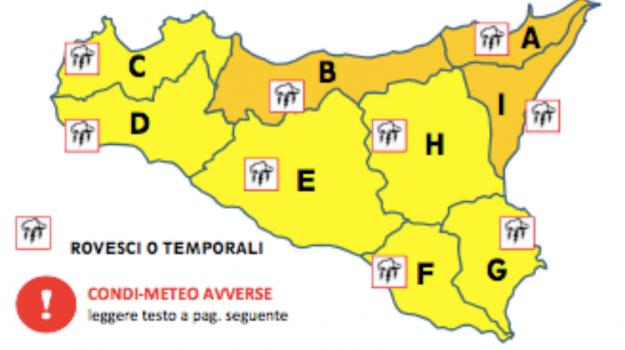 Maltempo, piogge, previsioni, Sicilia, Meteo