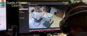 Un fermo immagine del video della Guardia di Finanza di Catania