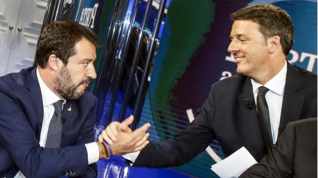 Italia Viva, Lega, tv, Bruno Vespa, Matteo Renzi, Matteo Salvini, Sicilia, Politica