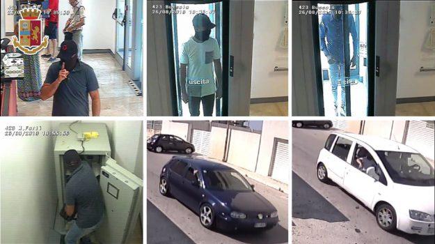 Rapina da 65 mila euro in banca a Trapani, arrestati 3 palermitani