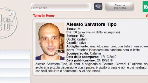 scomparso, Alessio Salvatore Tipo, Catania, Cronaca