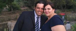 Claudia Stabile con il marito Piero Bono