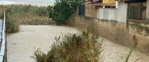 Nell'Agrigentino ansia per la piena del fiume Salso (foto Longo)