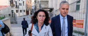 La deputata di Italia Viva, Giusy Occhionero e l'avvocato Giovanni Bruno