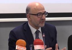 Mes, Moscovici: «Progresso per sistema bancario italiano» Il Commissario europeo per gli affari economici e monetari in conferenza stampa a Roma - Ansa