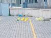Caltanissetta, sacchetti di urina davanti al cancello di una scuola: salta il mercatino
