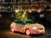 Elettrica Nissan Leaf trasforamta in maxi-luminaria Natale