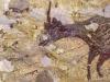Particolare della scena di caccia dipinta 43.900 anni fa (fonte: Ratno Sardi/Griffith University)
