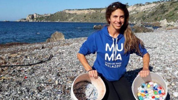 baia s. antonio, plastica in mare, Carmelo Isgrò, Messina, Cronaca