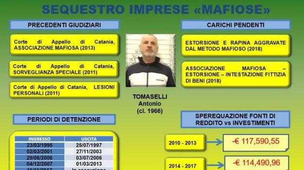 mafia, sequestri, Antonio Tomaselli, Catania, Cronaca