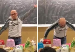 Bari, il professore incanta gli alunni: La trigonometria spiegata come una festa  Protagonista Alessio Pomponio, professore associato di analisi matematica - Ansa