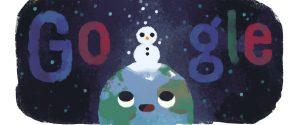 Il doodle di Google dedicato all'inverno