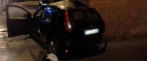 L'auto distrutta dopo l'incidente a Ortigia