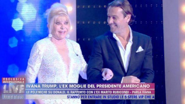Live-Non è la D'Urso, tv, Ivana Trump, Sicilia, Società