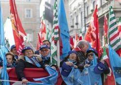 Sindacati in piazza a Roma, manifestazione di Cgil, Cisl e Uil Pensioni e fisco i temi al centro dell'iniziativa - Ansa