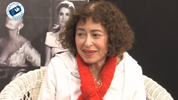 Gerardina Trovato in un'intervista a una tv locale siciliana nel 2016