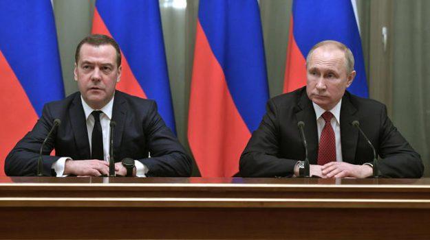Russia, Dmitri Medvedev, Vladimir Putin, Sicilia, Mondo