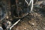 Acquedolci, incendio allo sfasciacarrozze di contrada Furiano