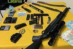 Armi e droga in un bungalow, arrestato socio di un lido di Catania