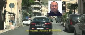 Un frame delle intercettazioni e nel riquadro Francesco Salvatore Tumminia