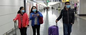 Turisti cinesi a Fiumicino