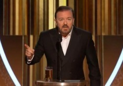 Golden Globe, il presentatore Gervais ammonisce le star: «Niente discorsi politici, non sapete nulla» La tirata del comico sui discorsi di ringraziamento  - Ansa