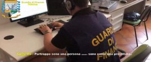 Un frame del video inviato dalla guardia di finanza