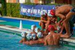 Stefano Piccardo e i giocatori dell'Ortigia (foto Simona Amato)