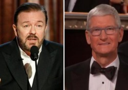 Ricky Gervais ai Golden Globe 2020 attacca tutti, anche Apple. E gela Tim Cook in platea: il video integrale Il comico e presentatore dell'evento non ha risparmiato nessuno - Ansa