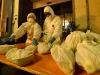 Addetti della Protezione civile e operatori sanitari al lavoro in Italia