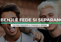 Benji & Fede si separano: l'annuncio e il messaggio ai fan L'ultimo concerto il 3 maggio a Verona - Ansa