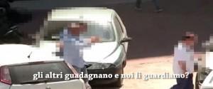 Corruzione al Comune di Palermo, un frame del video con le intercettazioni