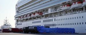 La nave da crociera Diamond Princess ferma in Giappone