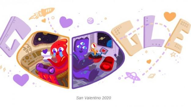 doodle di google, feste, san valentino, Sicilia, Società