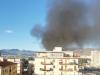 Nube nera e aria irrespirabile alla Guadagna, paura a Palermo per un incendio di rifiuti