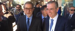 Il preside della Regione, Nello Musumeci con l'assessore Marco Falcone