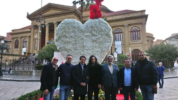 san valentino, Palermo, Società