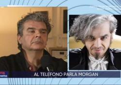 Scontro in diretta tv tra Morgan e il manager di Bugo Il cantante interviene al telefono alla «La vita in diretta» su Rai1 - Ansa