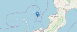 Terremoto al largo delle isole Eolie, scossa di magnitudo 3.7