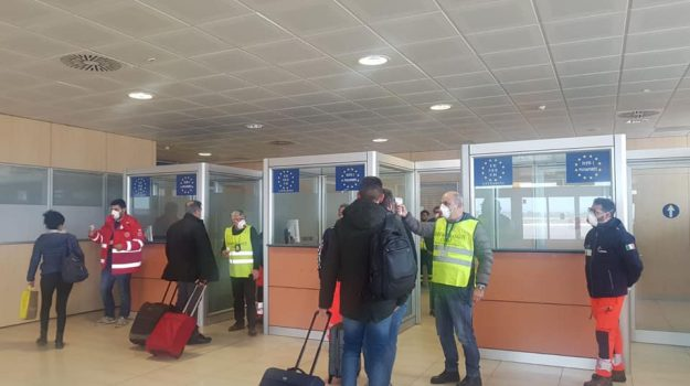aeroporto trapani, coronavirus, Trapani, Cronaca