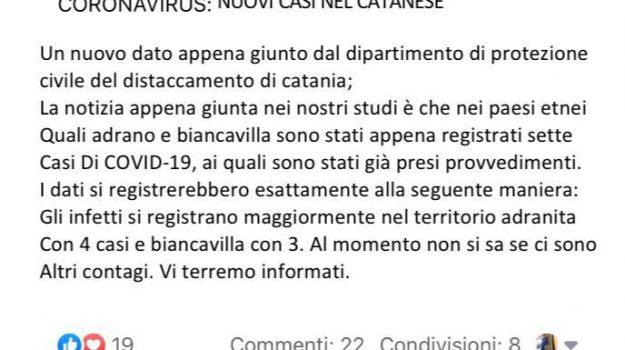 adrano, biancavilla, coronavirus, Catania, Cronaca