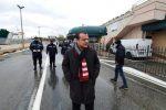 Il sindaco Cateno De Luca al porto di Messina